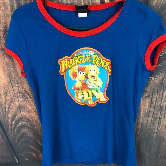 Tops - Fraggle Rock Vintage-Style Crop Top Womens L
